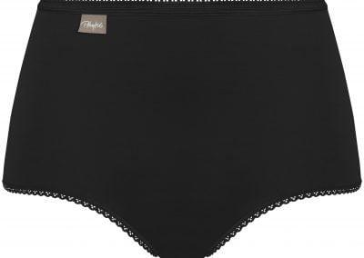 Culotte haute coton noir Playtex